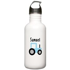 Samuel - Baby Blue Tractor Water Bottle