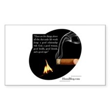 Cigar Sticker with Quote (Rectangular)