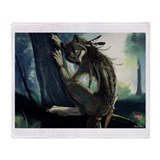 Cute Werewolf Throw Blanket