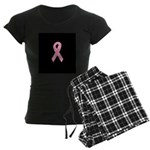 Breast Cancer Ribbon Art Women's Dark Pajamas