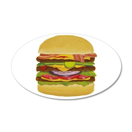 Cheeseburger king 20x12 Oval Wall Decal