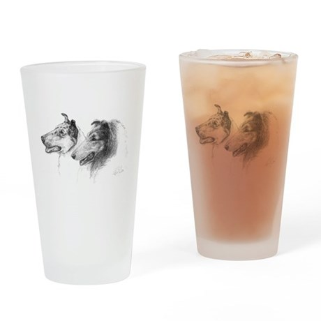 Rough & Smooth Collies Pint Glass