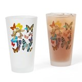 Beautiful Butterflies Pint Glass