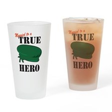 Married to a Green Beret Hero Pint Glass