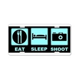 Eat Sleep Shoot Aluminum License Plate