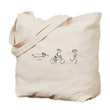 Triathlon Girl Black No Words Tote Bag