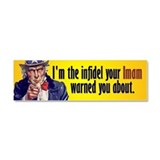 I am the infidel Car Magnet 10 x 3