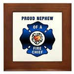 Fire Chief's Nephew Framed Tile