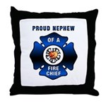 Fire Chief's Nephew Throw Pillow