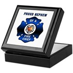Fire Chief's Nephew Keepsake Box