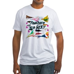"""Feathered Lures"" Fitted T-Shirt"