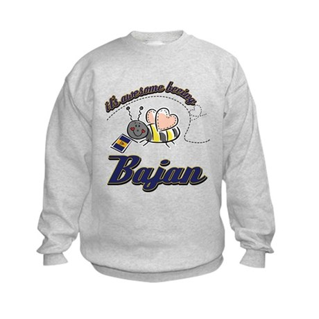 Awesome Being Bajan Kids Sweatshirt