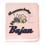 Awesome Being Bajan baby blanket