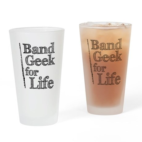 Flute Band Geek Pint Glass
