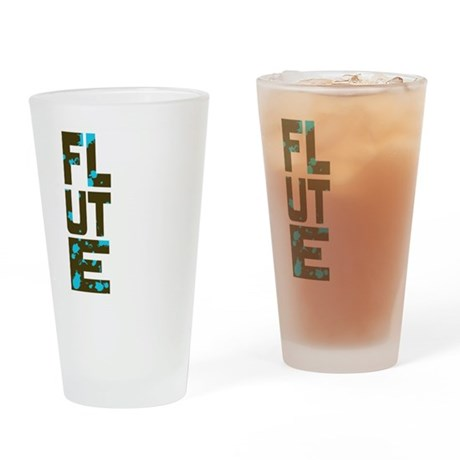 Asymmetrical Flute Pint Glass