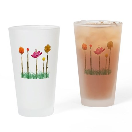 Flute Flowers Pint Glass