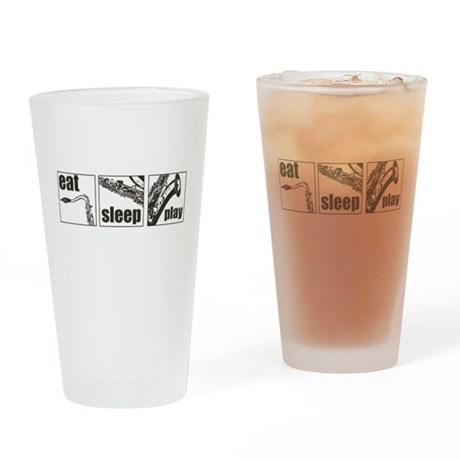 Eat Sleep Play Sax Pint Glass