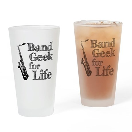 Saxophone Band Geek Pint Glass
