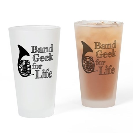 French Horn Band Geek Pint Glass