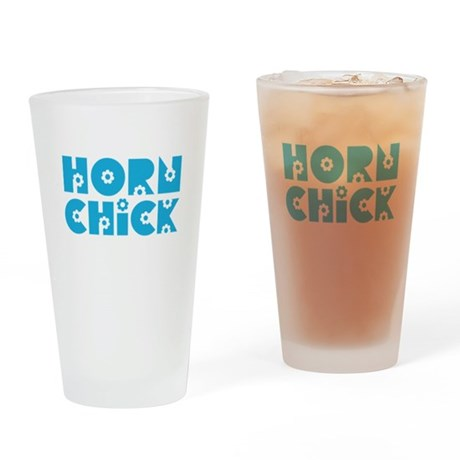 Horn Chick Pint Glass