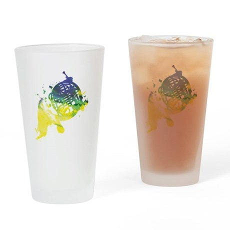Paint Splat French Horn Pint Glass
