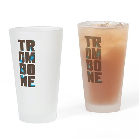 Asymmetrical Trombone Pint Glass