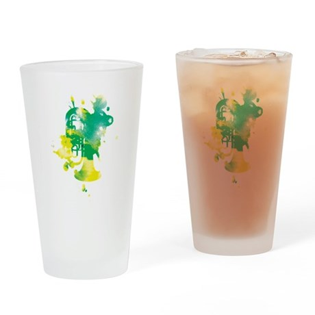 Paint Splat Tuba Pint Glass