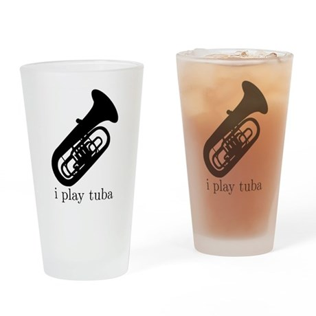 I Play Tuba Pint Glass
