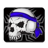 Street Wise Skull(blue)(black) Mousepad