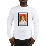 Collie Stamp Long Sleeve T-Shirt