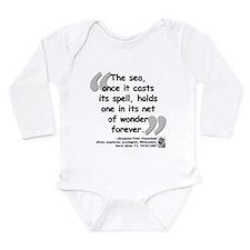 Cousteau Sea Quote Long Sleeve Infant Bodysuit