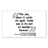 Cousteau Sea Quote Decal