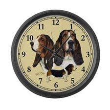 Basset Hound Large Wall Clock