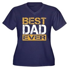 Best Dad Women's Plus Size V-Neck Dark T-Shirt