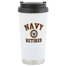 USN Navy Retired Ceramic Travel Mug