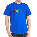 Ukulele Rainbow - Black/Dark T-Shirt