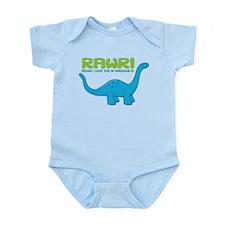RAWR means I love you in Dino Infant Bodysuit