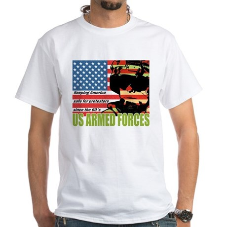 U.S. Armed Forces White T-Shirt