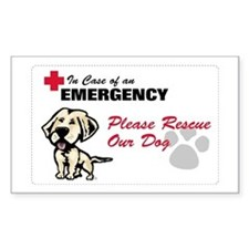 Save My Yellow Lab Rectangle Decal