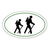 Hikers silhouette Decal