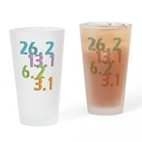 runner distances Pint Glass
