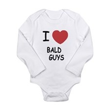 I heart bald guys Onesie Romper Suit