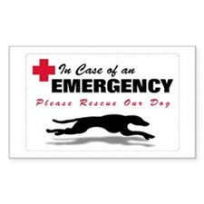 Save My Greyhound Rectangle Decal