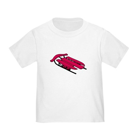 red sled t-shirt