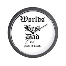 Worlds Best Dad Wall Clock