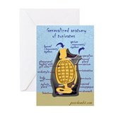 Sea squirt anatomy Greeting Card