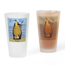 Sea squirt anatomy Drinking Glass