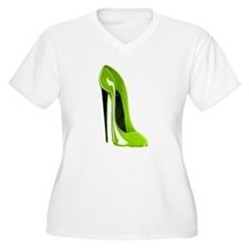 Lime green stiletto shoe T-Shirt