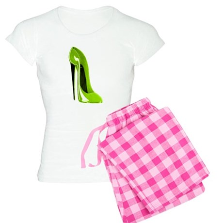 Lime green stiletto shoe Women's Light Pajamas