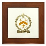 BOURGOIN Family Crest Framed Tile